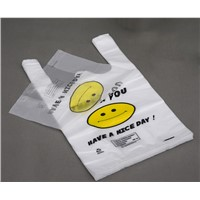 Plastic T-shirt shopping bags