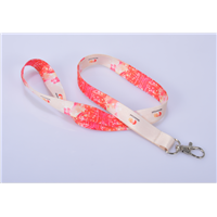 Polyester custom round narrow neck lanyard with different accessories