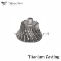 TPS titanium casting parts impeller Grade C2/3/5 with HIP
