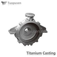 TPS titanium casting parts pump Grade 2