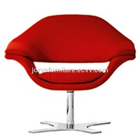 Mordern Lip Shaped Swivel Chair Fabric Leisure Revolving Chair Leather Rotary Chair Office Chair