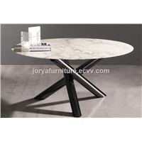 Modern Round Dining Table Portable Dining Table Marble/Tempered Glass/Wooden Top Tabletable