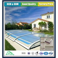 DILANG Polycarbonate new hard swimming pool cover
