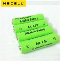 Hotsale1.5V Rechargeable alkaline battery AA LR6