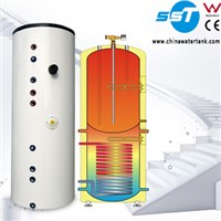 Solar water geyser with solar thermal panel