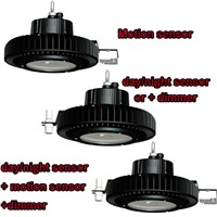 100W 150W 200W HIGH BAY UFO lights with Motion sensor day/light sensor and dimmer HIGH quality