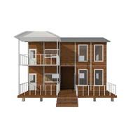 big two layer prefab steel frame housing