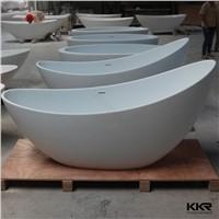 Artificial Stone Custom Size Gel Coat Resin Stone Freestanding Bathtub