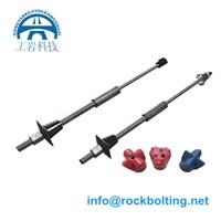 hollow grouting self drilling anchor bolt