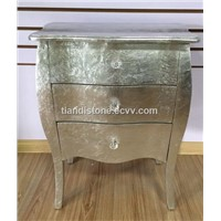 Hot Sell for Golded Foil Finishing Solid Wood Cabinet with 3 drawers
