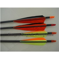 completed carbon arrow, carbon archery arrow, hunting arrow