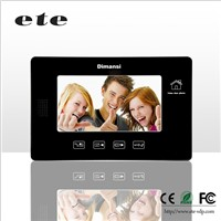 Wired touch button support sd card recording function 7 inch video intercom system