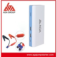 Portable multi-function car jump starter with tire air pump compressor