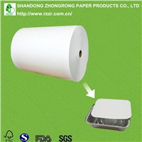 PE coated paperboard for alu foil container lid