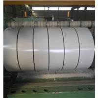 Prepainted steel sheet in coils and strips for building materials
