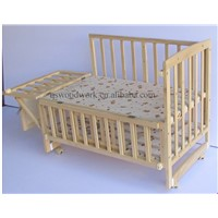 baby bed, kids bed, kid bed, baby crib, crib, cot, cradle, wood bed, wooden bed
