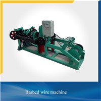 PVC Coated Surface Treatment and Low Carbon Steel Wire Material Barbed Wire Machine