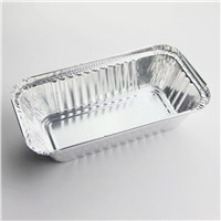 Disposable aluminum foil food pan