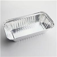 Disposable aluminum foil food pan