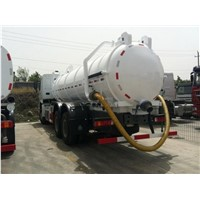 Low Cost HOWO Sewage Suction Truck for Sale