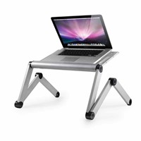 Adjustable Laptop Desk Portable Laptop Table Computer Desk Aluminum Alloy Tray Desk (FWT002)