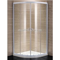 White aluminum profile with 5mm glass sliding shower enclosure