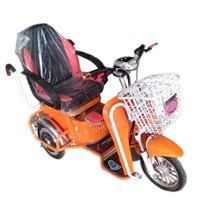 500W 48V Electric Bike with Front Basket and LED Light