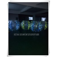 Amazing design beautiful glow inflatable bumper ball bubble soccer for sale