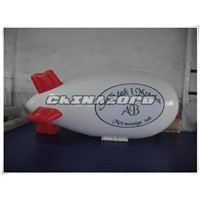 Inflatable airship helium balloon with quality silk printings for advertising