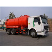 SINOTRUK15 Litre sewage vacuum truck and sewage suction truck