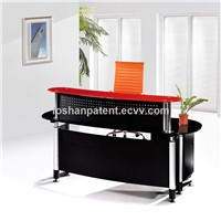 2016 Glass Top Office Modern Reception Desk for Sale