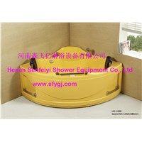 Yellow color new style acrylic massage bathtub SFY-HG-1048