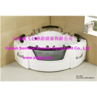 Acrylic glass massage bathtub for double person SFY-HG-1031