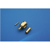 SMA Straight Clamp Plug for RG-174, RG-188A, RG-316, 50 Ohm