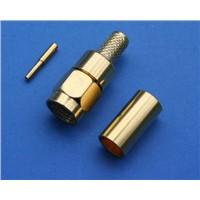 SMA Straight Clamp Plug for RG-58, LMR-195, 50 Ohm