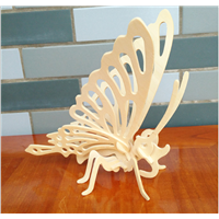2015 Hot Sale Gifts Butterfly 3D Wooden Puzzle Kids Puzzles Products for Crafts