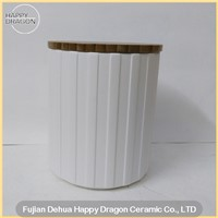 Lines Ceramic Container Homes For Candle wax