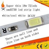 SMD5730 1M/PC 18w 24lm/led led advertising lighting box  super thin rigid strip light