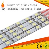 2016 super thin led strip light 9w 1m/pc smd2835 72leds use in led advertising lighting box