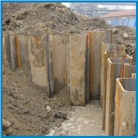 hot rolled u type steel sheet pile, larsen pile, easy piling, for water project ng