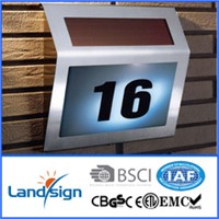 solar house number sign light type solar energy led lamp series XLTD-910 solar house number