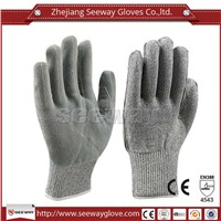 SeeWayHppe cow leather cut resistant industrial safety work gloves