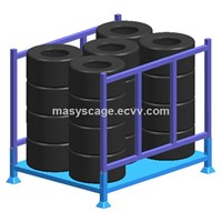 Warehouse Tire Storage Stacking Folding Rack