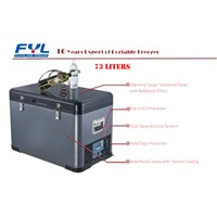 DC Compressor Portable Fridge Freezer Refrigerator, 12V/24V DC Car Fridge