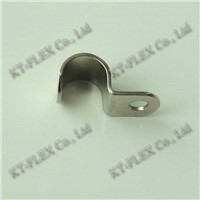 Half saddle nickel plated iron pipe clamp