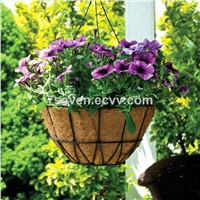 Metal coco hanging basket/Hanging basket with coir liner