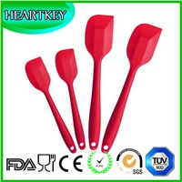 Premium Silicone Spatula Set of 4 with Hygienic Solid Coating - Bonus 101 Cooking Tips