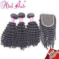 Remy Hair Free Shipping Virgin Hair Extension Curly Hair Mink Hair Wholesale Deep Curly Hair Weave