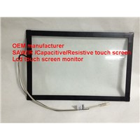 (8-32'')26inch high resolution Plastic frame waterproof SAW  touch screen panel