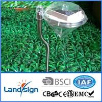 2015 hot sale decorative solar garden lights color changing solar diamond light